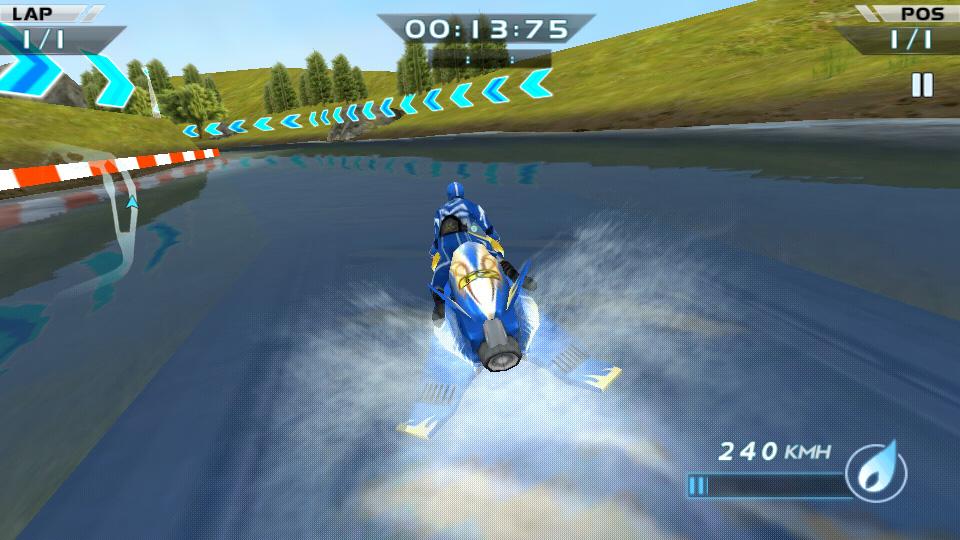 Гонки водных мотоциклов 3D на телефон