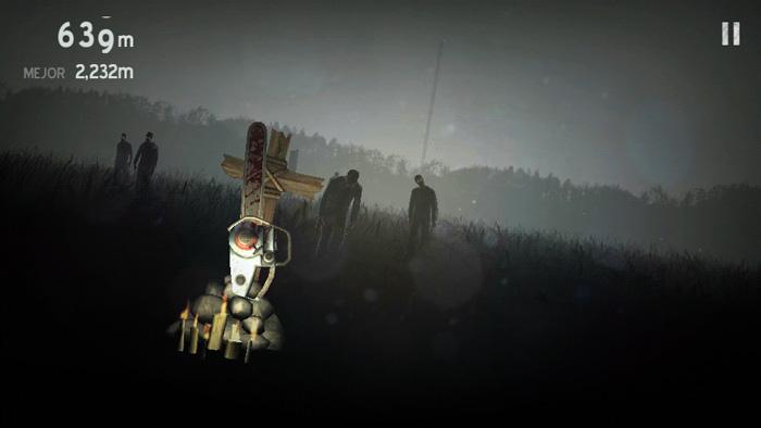 Зомби в тумане на телефон