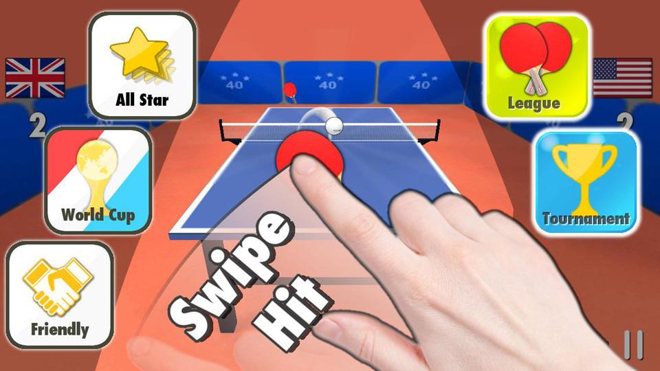 Настольный теннис 3D на андроид