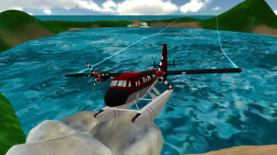 Sea Plane: Flight Simulator 3D на андроид