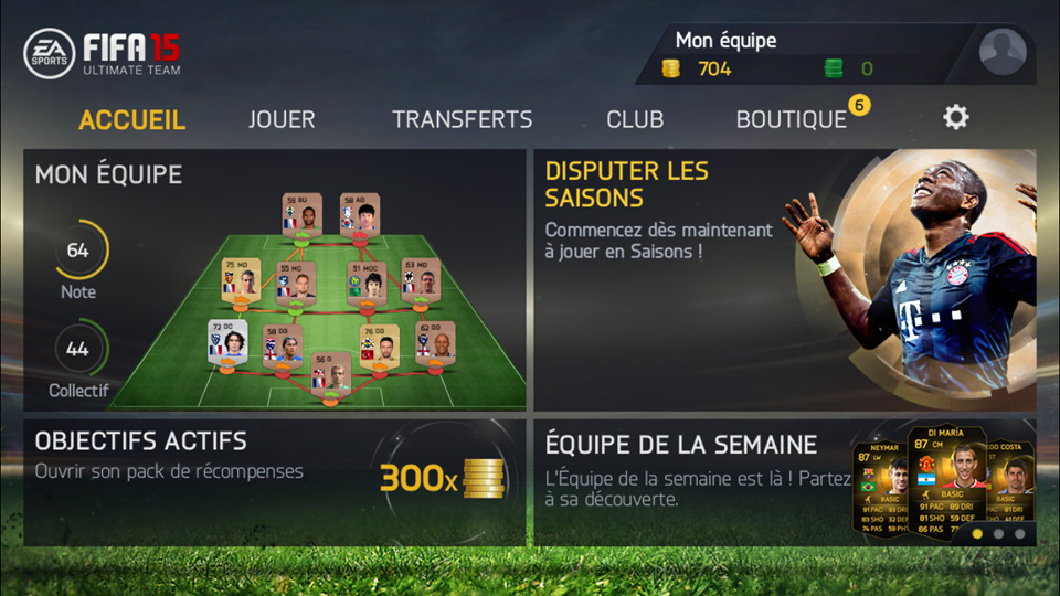FIFA 15 Ultimate Team на телефон