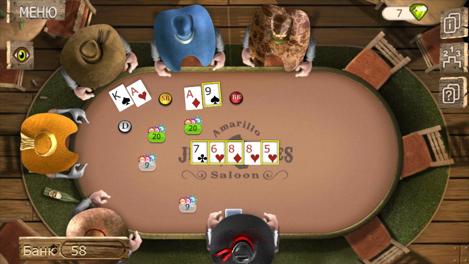 Governor of Poker 2 на андроид