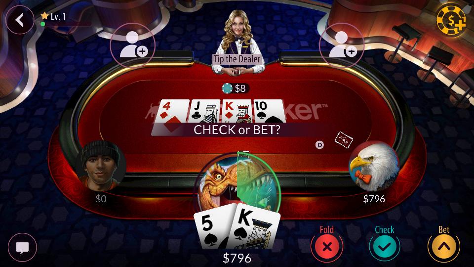 Zynga Poker – Texas Holdem на андроид