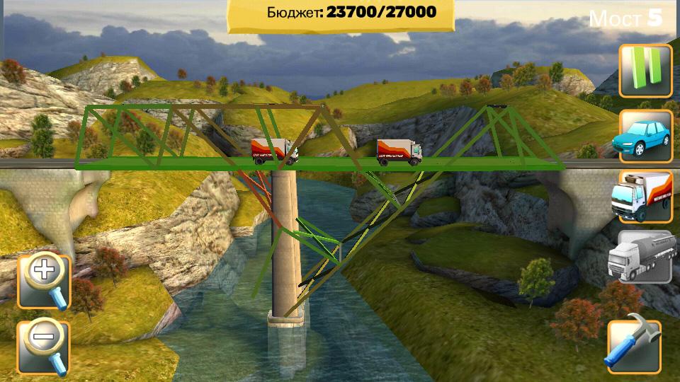 Bridge Constructor на телефон