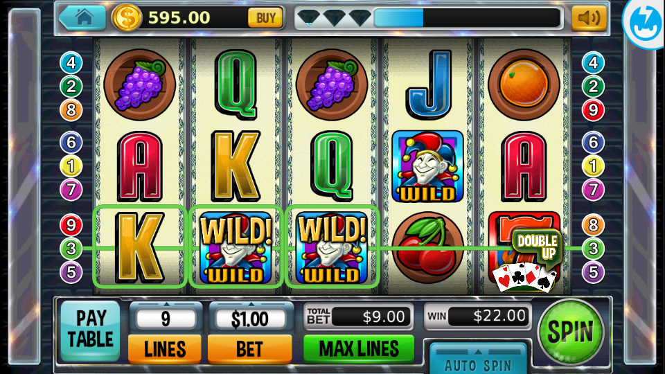 Machine payout slot