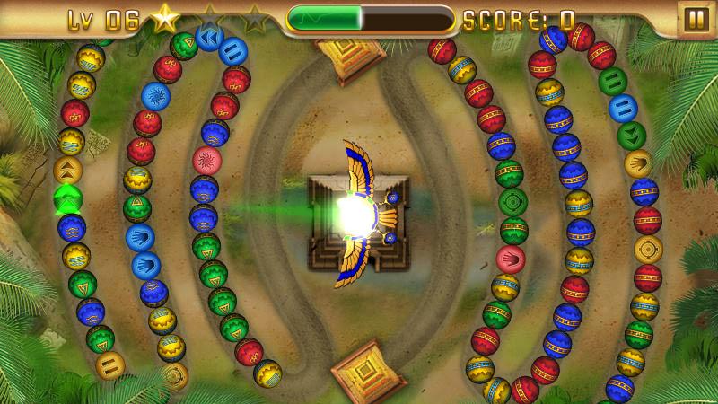Египетская Зума – храм Анубиса на андроид