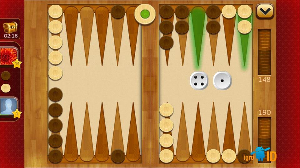 Backgammon Plus скачать