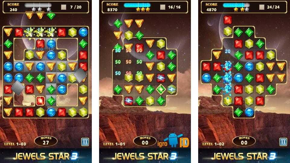 Jewels Star 3 на андроид
