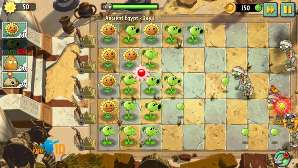 Plants vs. Zombies 2 на андроид