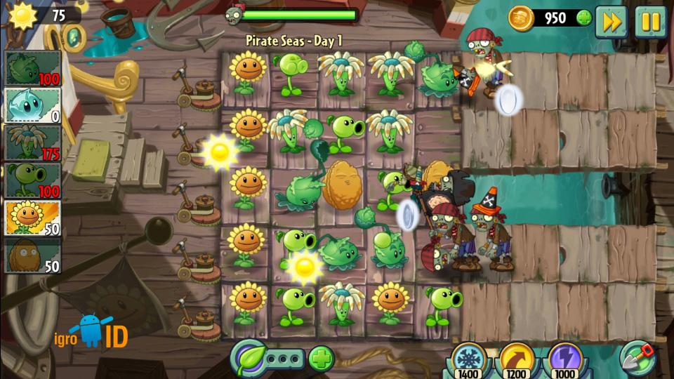 Plants vs. Zombies 2 на телефон