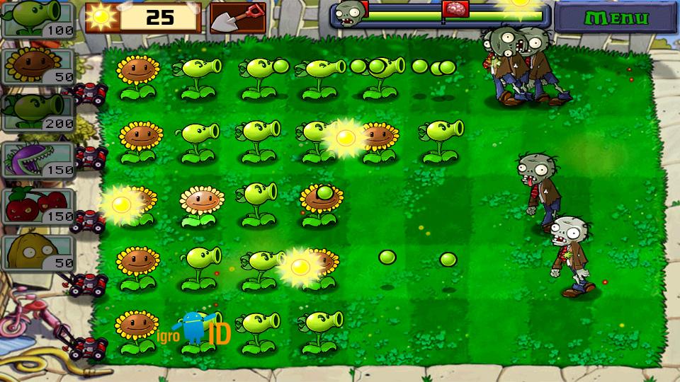 Plants vs. Zombies на андроид