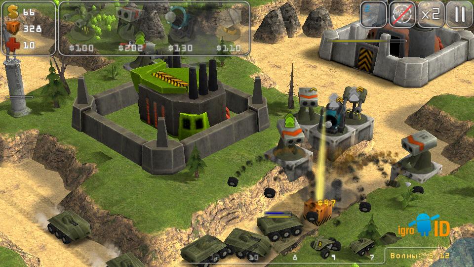 Total Defense 3D на андроид