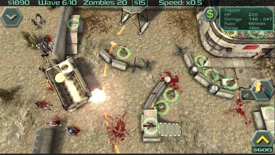 Zombie Defense на телефон