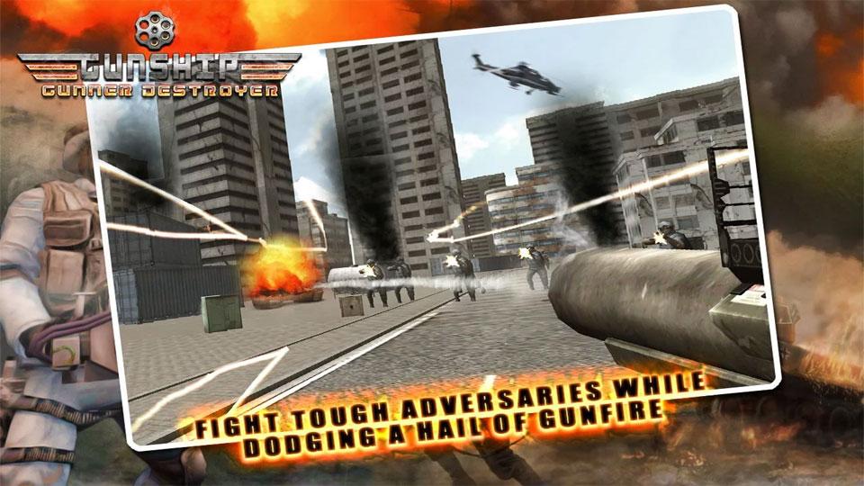 Gunship Gunner Destroyer на андроид
