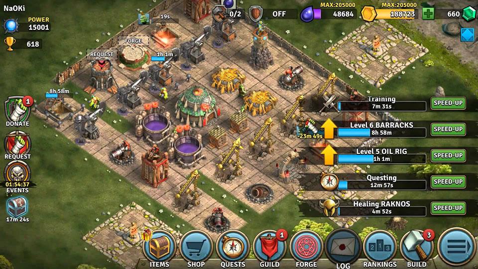 Heroes of War: Orcs vs Knights на андроид