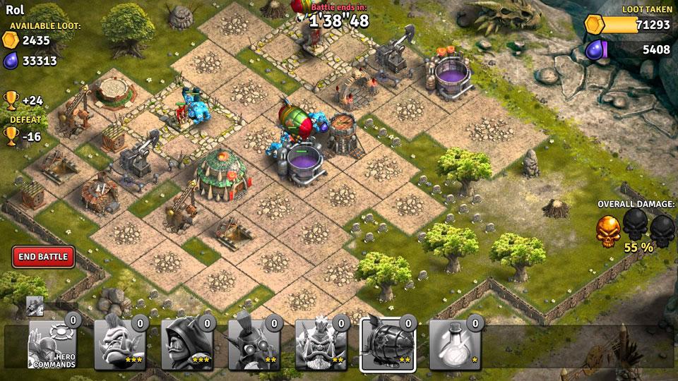 Heroes of War: Orcs vs Knights на телефон