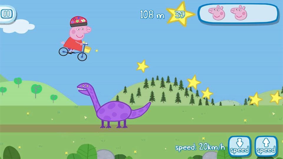Свинка Пеппа на велосипеде на андроид