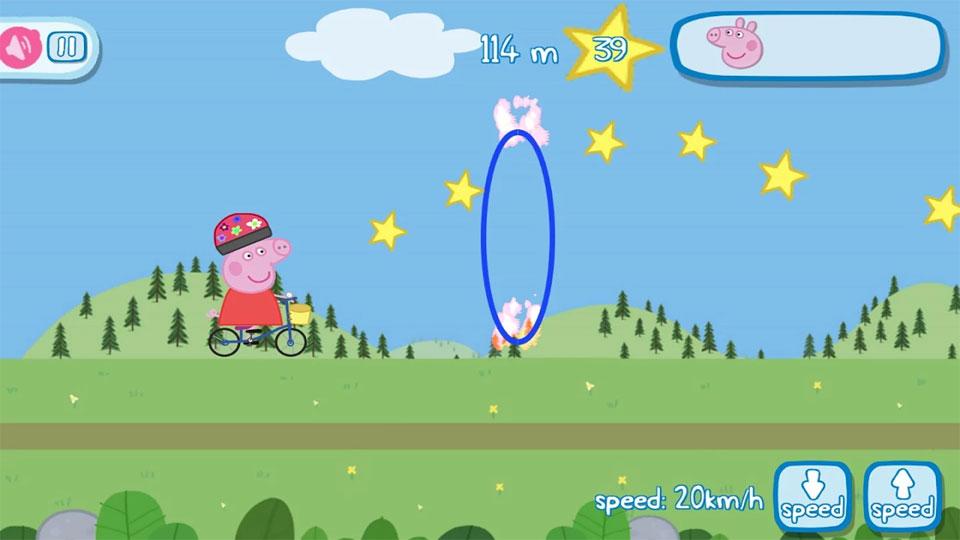 Свинка Пеппа на велосипеде скачать