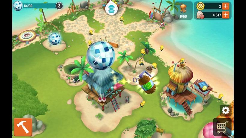 Миньоны: Райский уголок на телефон