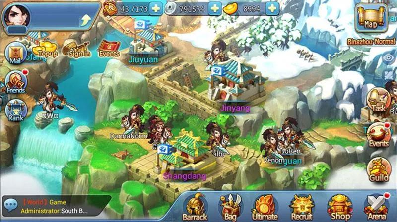 Chibi 3 Kingdoms на телефон