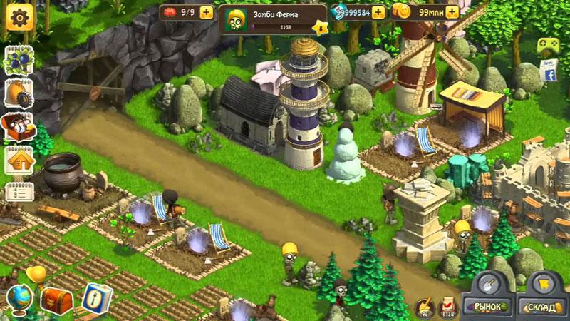 Зомби Ферма на андроид
