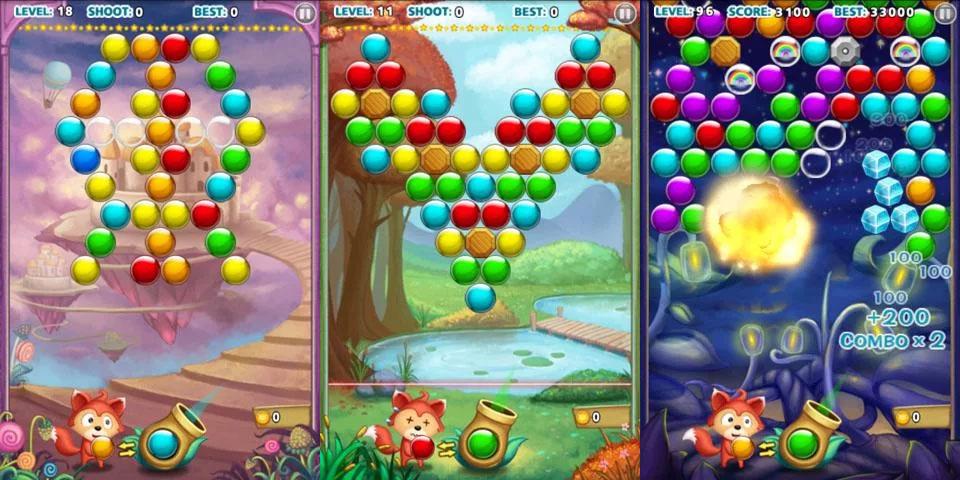 Bubble Shooter «Три в ряд» на андроид
