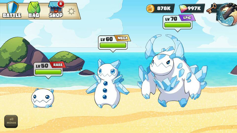 Mino Monsters 2 Evolution на телефон