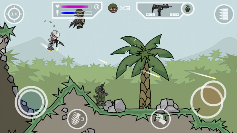 Doodle Army 2: Mini Militia на андроид