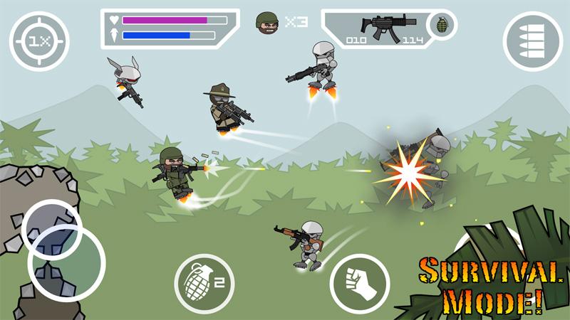 Doodle Army 2: Mini Militia скачать