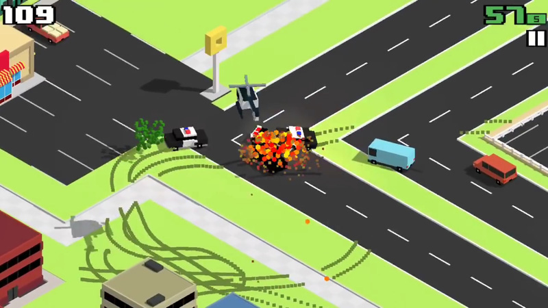 Smashy Road: Wanted на телефон