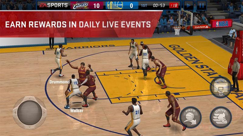 NBA Live Mobile на андроид