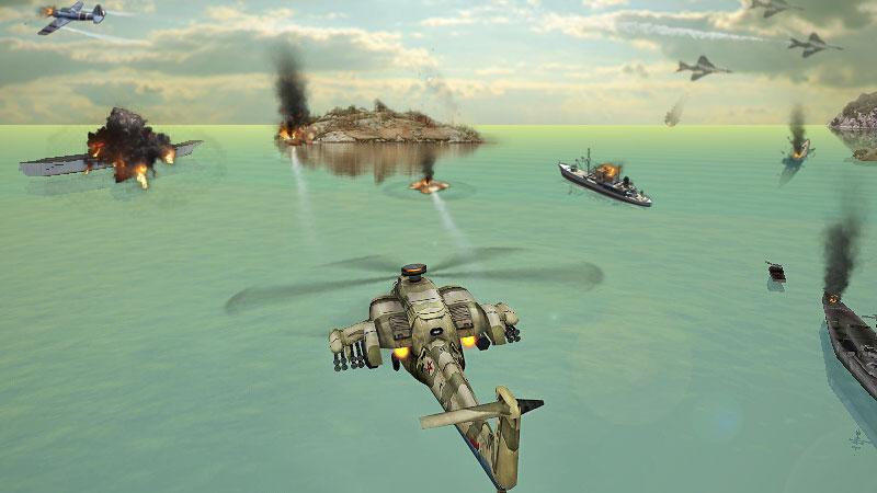 Вертолетная атака 3D на андроид