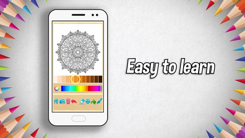 Раскраски Мандала на андроид