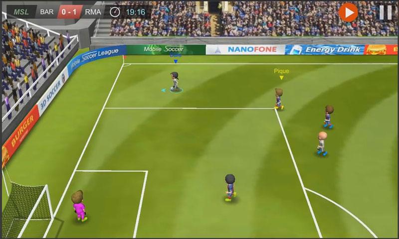 Mobile Soccer League на телефон