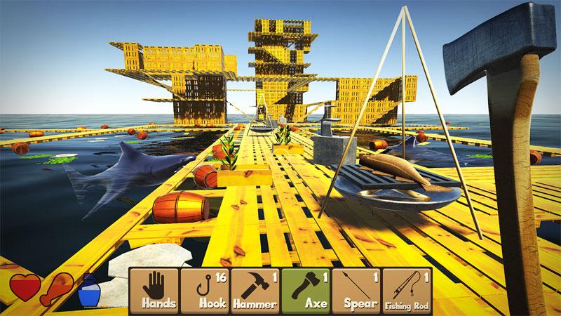 Raft Survival Simulator на андроид