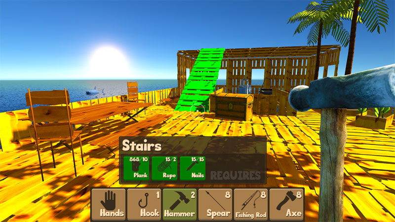 Raft Survival Simulator на телефон