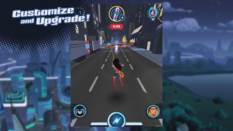 Justice League Action Run на телефон