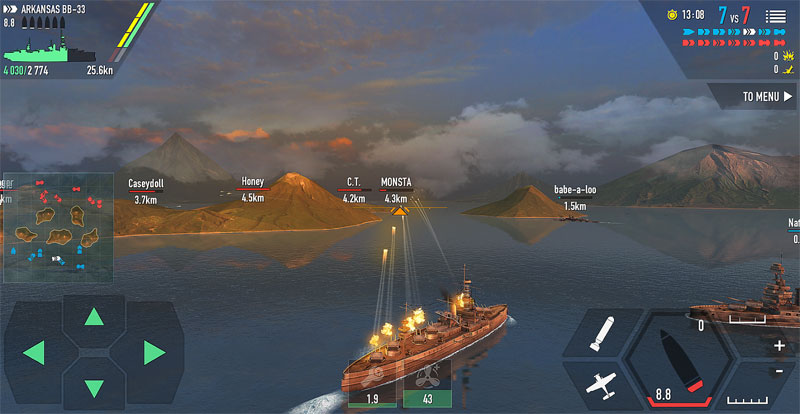 Battle of Warships на телефон