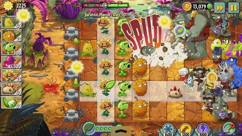 Plants vs Zombies 2: Новая версия на андроид