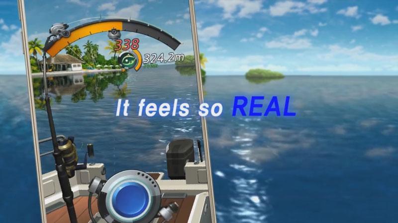 Рыболовный крючок на телефон