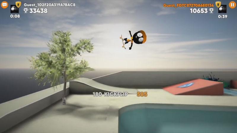 Stickman Skate Battle на андроид