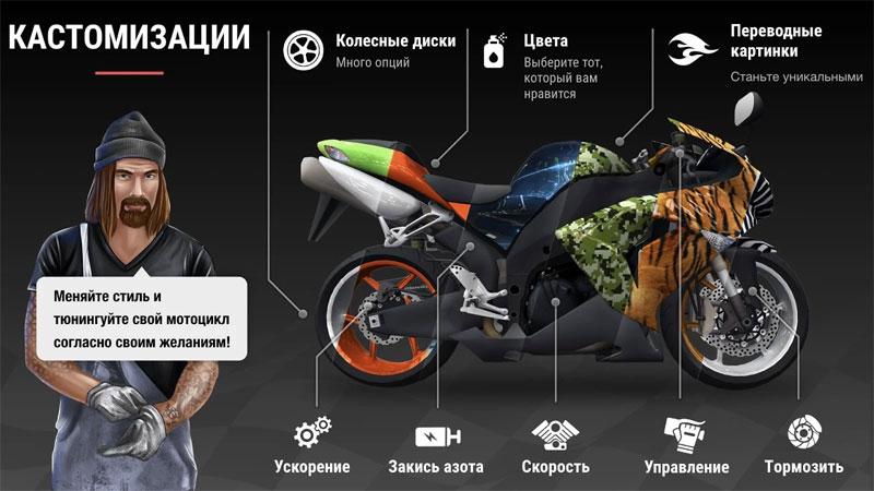 Racing Fever: Moto на андроид