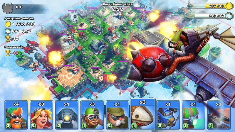 Sky Clash: Lords of Clans на андроид