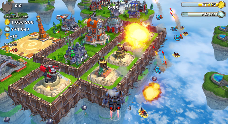 Sky Clash: Lords of Clans на телефон
