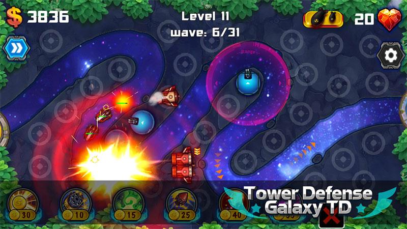Tower Defense: Galaxy TD на андроид