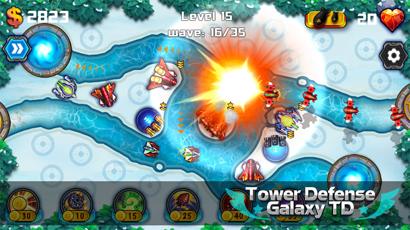 Tower Defense: Galaxy TD на телефон