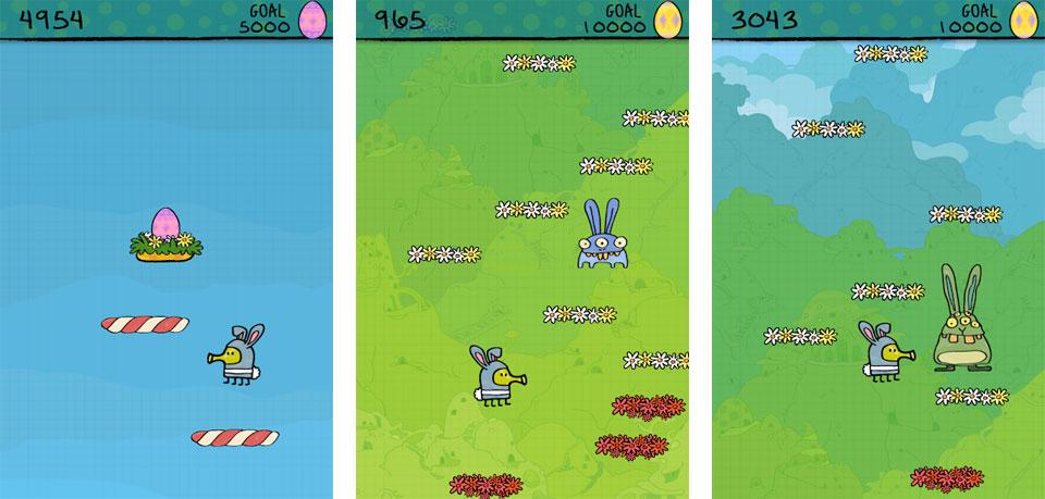 Doodle Jump: Пасхальный выпуск на андроид