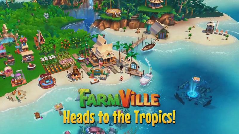 FarmVille: тропический остров на телефон