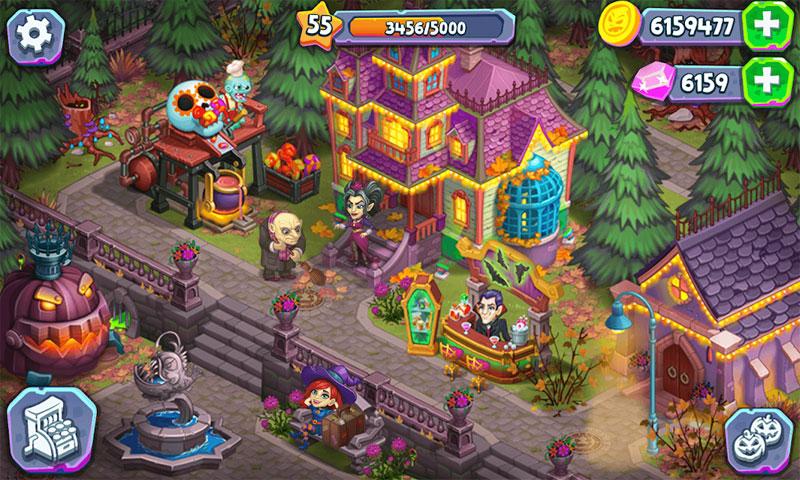 Monster Farm: Ферма - Хэллоуин в Городке Монстров на андроид