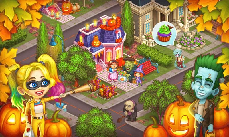 Monster Farm: Ферма - Хэллоуин в Городке Монстров на телефон